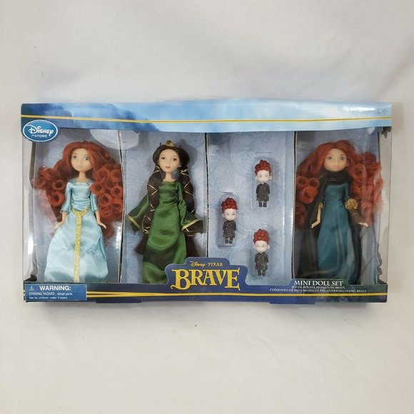 RARE NEW Disney BRAVE MERIDA Elinor Triplets Dolls
